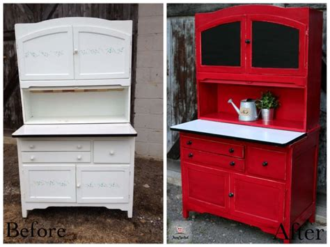 Painted Hoosier Cabinet by Hoosier Cabinet Rev Funcycled