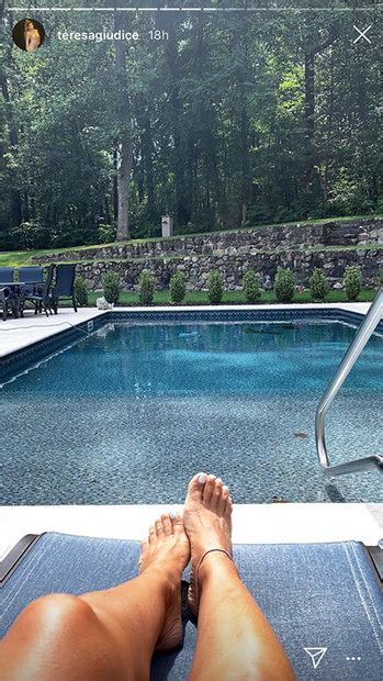 teresa giudice shares photo  fancy  pool backyard