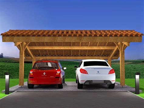 carports de mod 233 lisation projet carport bois 2 voitures avec
