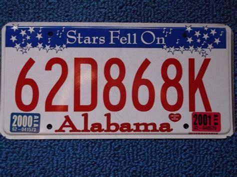 Alabama Vanity Plates by 2001 Alabama License Plate Ebay