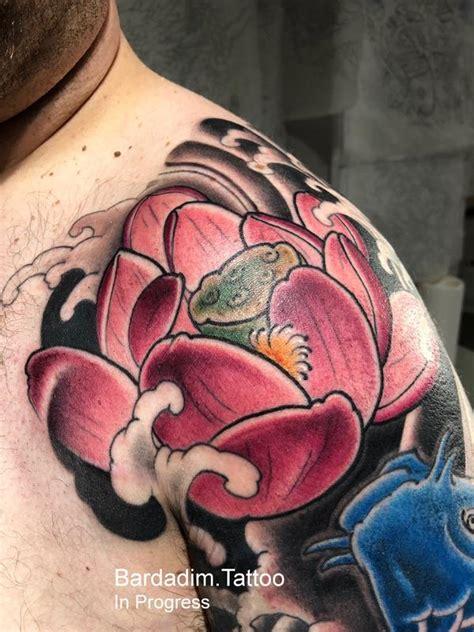 lotus tattoo studio peterborough lotus flower by george bardadim tattoonow