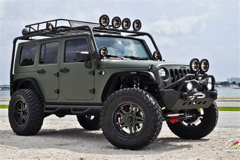 army green jeep rubicon matte finish sd wrap