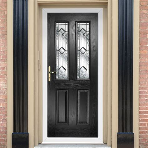 Decorative Entry Doors by Malton Composite Door With Decorative Glass Composite