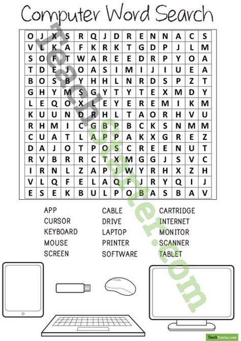 Computer Search Computer Word Search With Solution