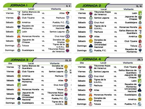 Calendario De La Liga 2016 Calendario De La Liga Mx 2016 Calendar Template 2017