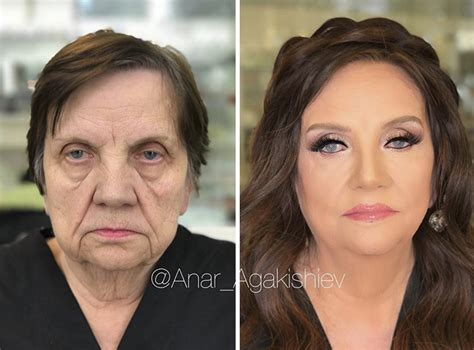 makeovers for 45 year old women make up artist makes clients as old as 80 look decades