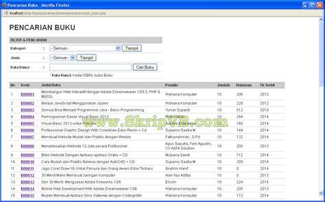 Buku Original Aplikasi Manajemen Database Pendidikan Berbasis Web source code sistem informasi perpustakaan berbasis web