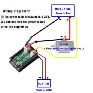 0 28 inch digital voltmeter ammeter dc 100v 100a led