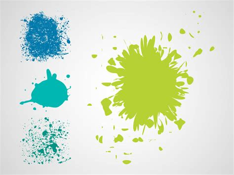paint splatter vectors vector graphics freevector