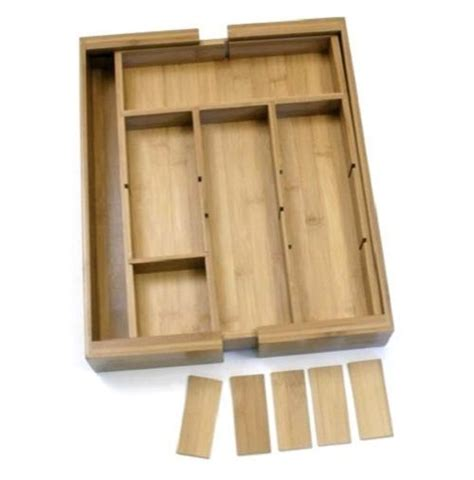 Wooden Utensil Drawer Organizer by Kitchen Utensil Tray Wooden Bamboo Expandable Removable
