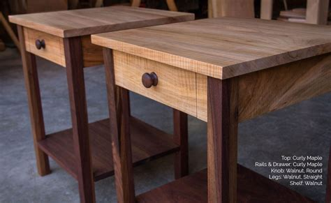 small walnut end table buy a handmade shaker inspired end side table nightstand