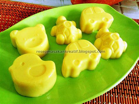 resep puding jagung susu lembut  santan aneka resep