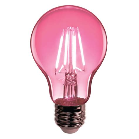 feit electric light bulbs feit electric 25w equivalent pink colored a19 dimmable