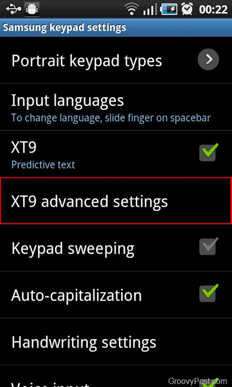 Android Xt9 how to delete words from an android xt9 dictionary