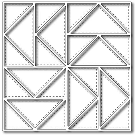 Quilt Dies by Frantic Ster Precision Die Flying Geese Quilt Square