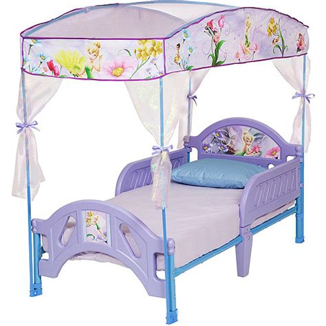 Disney Princess Toddler Bed With Canopy Disney Tinkerbell Fairies Toddler Bed With Canopy Ebay