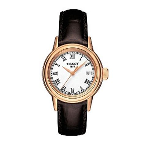 Tissot Simple White Sapphire tissot gold plated brown leather
