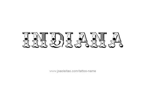 indiana usa state name designs tattoos with names