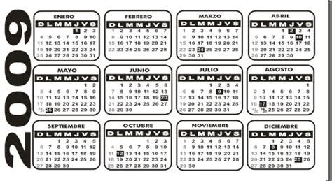 Calendario Febrero 2009 Calendario 2009