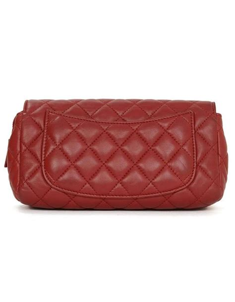 chanel quilted lambskin flap cosmetic bag clutch shw