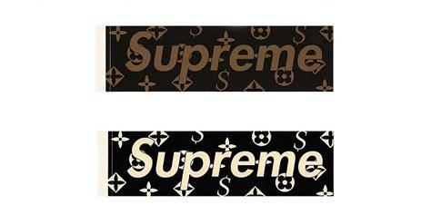 Sticker Supreme X Louisvuitton 2 supreme and louis vuitton collaboration leak hypebeast