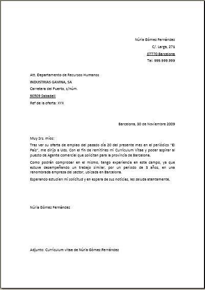 Modelo De Carta De Presentacion Con Curriculum Vitae Carta De Presentaci 243 N Ejemplo 1 Candado Curriculum