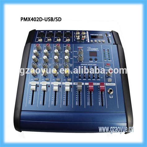 high quality mini audio mixer pmx 402d professional 4 channel 150w audio mixer box audio mixer