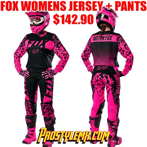 womens fox motocross gear 2016 fox 180 womens gear combo black pro style mx