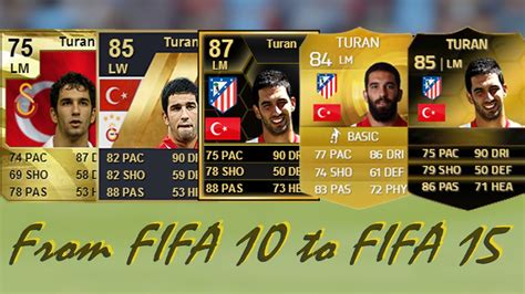 make a ultimate team card arda turan ultimate team cards from fifa 10 to fifa 15
