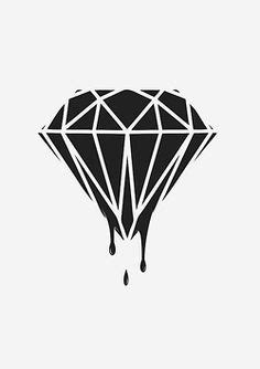 diamond tattoo stencil diamond stencil google search stencils pinterest