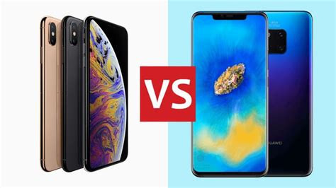 iphone xs max vs huawei mate 20 pro the phones of 2018 to t3