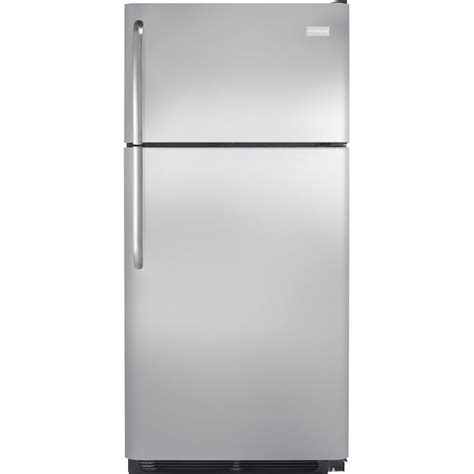 Frigigate Freezer Sliding Glass Door Crf 210 shop frigidaire 18 cu ft top freezer refrigerator optional sold separately stainless steel