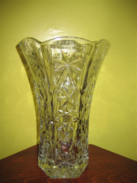 Glass Flower Vases Vintage Clear Cut Glass Flower Vase Item 1022 For Sale