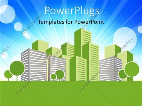 Powerpoint Template Real Estate Concept Vector Art Design Green Building Ppt Templates Free