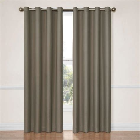 blackout curtains 63 length eclipse dane blackout smoke curtain panel 63 in length