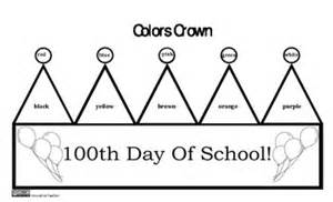 100th Day Crown Template by 100th Day Of School Crown