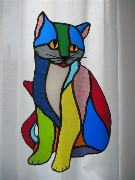 stained glass cat l 1857 best stained glass pets images on pinterest stained
