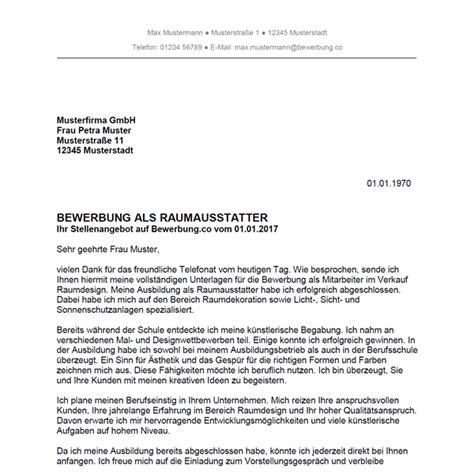 Lebenslauf Berufsschule Bewerbung Als Raumausstatter Raumausstatterin Bewerbung Co