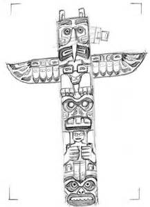 totem pole template american symbols cake ideas and designs