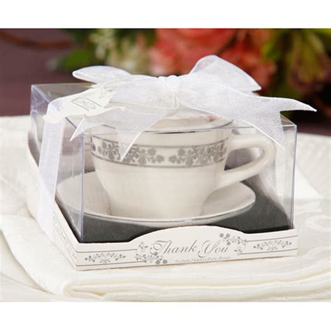 Wedding Favors Tea Cups by Tea Cup And Saucer With Tealight Candle Candle Holder