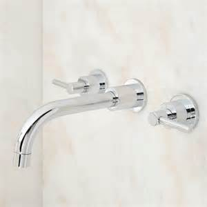 wall mounted bathroom faucet tipton wall mount bathroom faucet lever handles bathroom