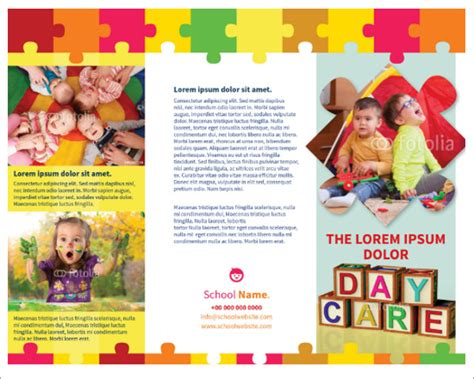 Kindergarten Flyer Template Yourweek Ae8b1deca25e Preschool Brochure Template Free