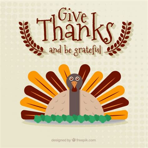 can you give a turkey give thanks turkey vector free