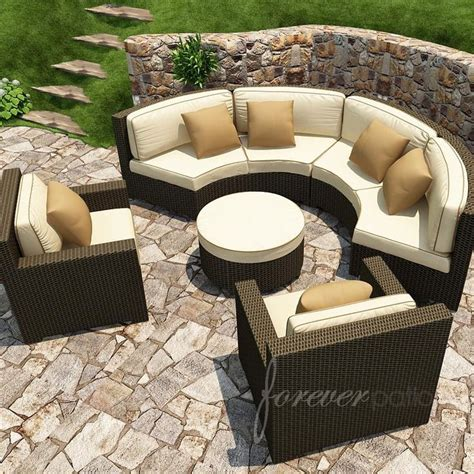 all weather wicker deep seating cushion outdoor recliner this forever patio sectional set combines contemporary