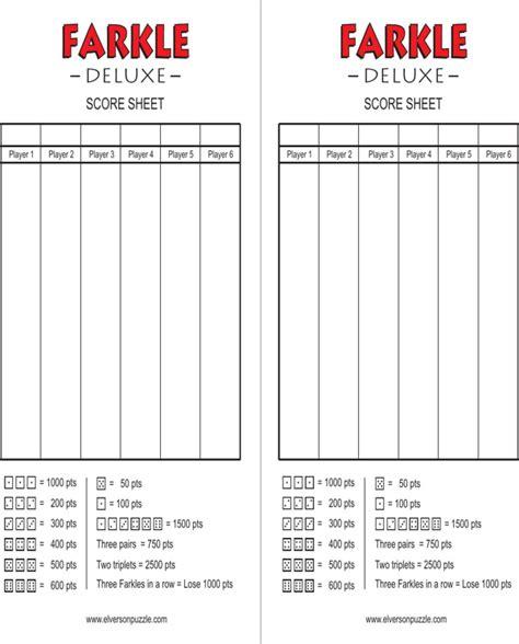farkle score sheet farkle score cards for free formtemplate