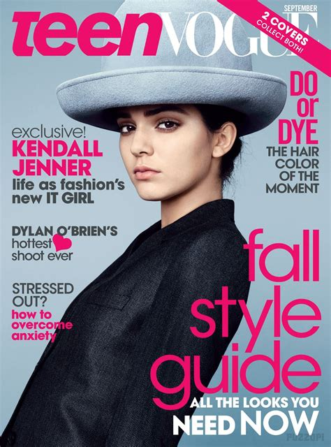 teen vogue kylie jenner kendall jenner in teen vogue magazine september 2014