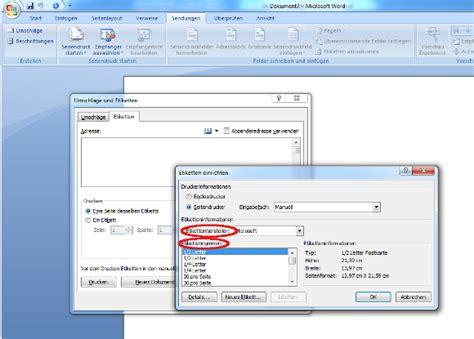 Adressaufkleber Word by Etiketten Erstellen Und Drucken Unter Microsoft Word