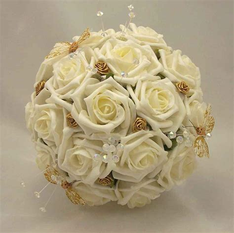Wedding Bouquet And Gold by Beautyful Flowers Wedding Flowers Gold