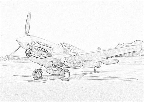 P 51 Mustang Coloring Pages by World War One Free Colouring Pages