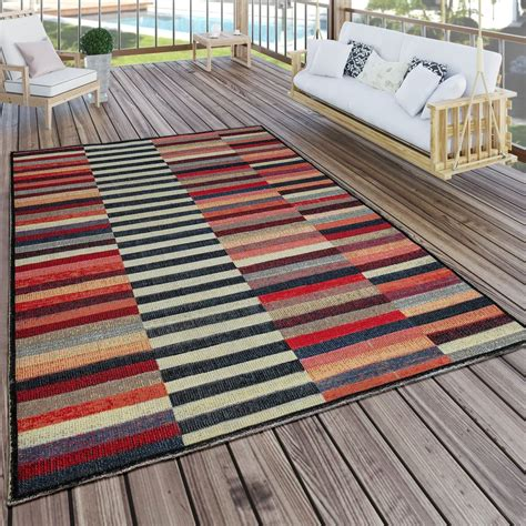 indoor outdoor rug colourful boho stripes carpets